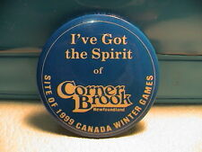 1999 CORNER BROOK NEWFOUNDLAND CANADA OLYMPIC WINTER SPORTS GAMES PIN PINBACK