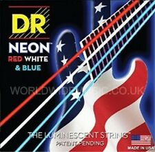 DR NEON NUSAB6-45 USA Red White & Blue 6 String Set Bass Guitar Strings 30-125