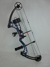 2016 PSE Stinger X Right Hand 70# RTH Compound Bow Blue Skullworks 2 Camo