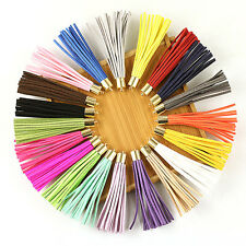 20pcs 80mm Mix Color Suede Leather Tassel Keychain Cellphone Straps Charms