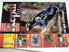 µµ Revue Reptil Mag n°27 Deshydratation Mygale Morsure
