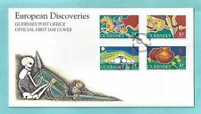 Guernsey CI Channel Islands First Day Cover FDC 1994 European Discoveries