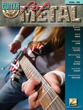 Pop Metal Guitar Play Along 8 Songs! Tab Book Cd NEW!