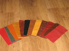 12X PIECES MIXED COLOUR LEATHER SCRAPS/REMNANTS/OFF CUTS/ REPAIRS-PATCHWORK