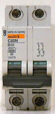 New Schneider Electric Merlin Gerin Multi-9 20A Miniature Circuit Breaker, 24078