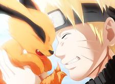 Poster A3 Naruto Shippuden Uzumaki Naruto Kurama