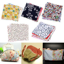 50Pcs 10x10cm Square Floral Cotton Fabric Patchwork Cloth DIY Craft Sewing Kit