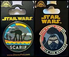 Disney Parks 2 Pin Lot STAR WARS Rogue Scarif + First Order Rule the Galaxy  New