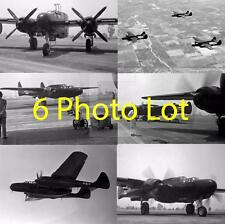 6 1942 WW2 Northrop P-61 Black Widow Plane Aviation WWII Photo Lot FL190