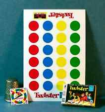 Dollhouse Miniature Twister Game 1960s retro dollhouse party game  1:12 scale