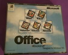 MICROSOFT OFFICE 95 PROFESSIONAL & BOOKSHELF GENUINE RARE SOFTWARE WITH KEY