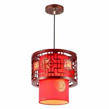 Chinese Style Wooden Teahouse Ceiling Pendant Lamp Dining Room Pendant Lights