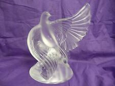 RARE LALIQUE DEA DOVE w/WING EXTENDED, PRE-OWNED, SIGNED, RETIRED