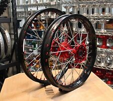 HONDA MX WHEELS CRF450 02-12 SET EXCEL TAKASAGO RIMS FASTER USA HUBS NEW