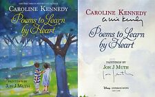 Caroline Kennedy~SIGNED 2X~Poems to Learn by Heart~1st/1st +Photos!!