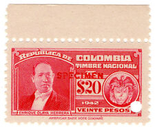 (I.B) Colombia Revenue : State Duty $20 (specimen)