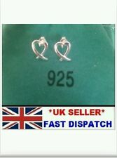 Uk* kiss cross open 925 sterling silver heart stud Earrings lady new gift +bag