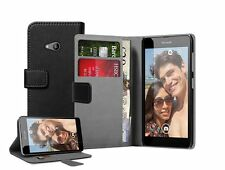 WALLET Leather Flip Case Cover Pouch For Mobile Phone Nokia Microsoft Lumia 535