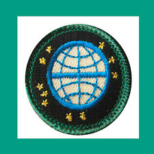 READY FOR TOMORROW Jr. Jade Girl Scout BADGE NEW Patch Globe Earth Multiples