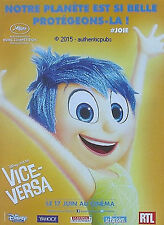 PUBLICITE VICE VERSA FILM ANIMATION DISNEY PIXAR CINEMA DE 2015 FRENCH AD PUB