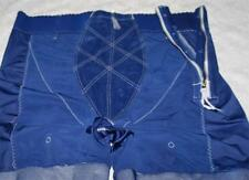 XXL 44 ROYAL BLUE VINTAGE SPLIT CROTCH LINGERIE GIRDLE SHORTS 4 Garters