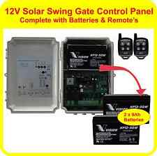 APC Solar control panel for double or single swing gates + 2 batteries