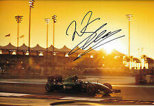Will Stevens SIGNED 12x8  Caterham-Renault CT05 , Abu Dhabi GP 2014