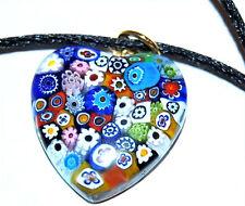 COLLANA PENDENTE VETRO DI MURANO MURRINA 22mm GLASS NECKLACE CUORE 07 PENDANT