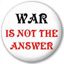 Small 25mm Lapel Pin Button Badge Novelty Anti War Peace