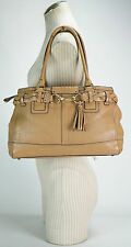 COACH 10529 HAMPTONS BROWN PEEBLE LEATHER TOTE SHOULDER BAG :)