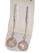 NEW (6233-2) towie crystal globe chain diamante earrings champagne gold
