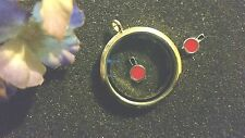RED NAIL POLISH FLOATING CHARM FOR LIVING LOCKETS *US SELLER