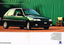 PUBLICITE ADVERTISING 074  1993  PEUGEOT 106  ROLAND GARROS  ( 2 pages)