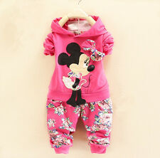 2PCS Toddler Kids Clothes Baby Girls Hoodie Long Sleeve+Pants Outfits Sets 2-3Y