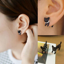Elegant Fashion Cute Women Lady Girl Leopard Cat Pearl Ear Stud Earrings Jewelry