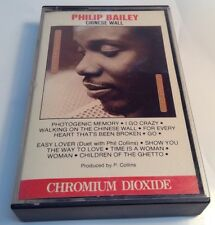 PHILIP BAILEY Tape Cassette CHINESE WALL 1984 Cbs Records Canada FCT-39542