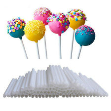 100x CAKE POP STICKS Lollipop Lutscher Kuchen Stiel 7cm x 3.5mm ABS Papierstiele