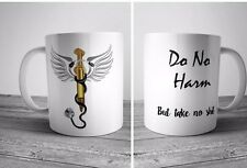 Do No Harm But Take No Funny Coffee Mug Caduceus Vet Nurse Doctor Gift Novelty