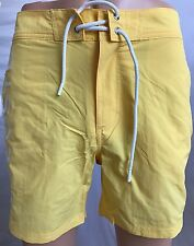 New Lacoste Mens Yellow Logo Board Swim Trunks / Shorts Size M - Free Shipping