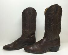 VTG MENS ACME COWBOY LEATHER BROWN BOOTS SIZE 9 D