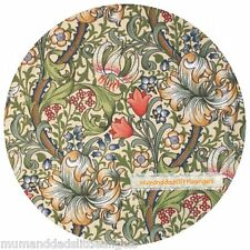 LOVELY WILLIAM MORRIS GOLDEN LILY ROUND TABLE MAT PLACEMAT TABLEMAT SERVER