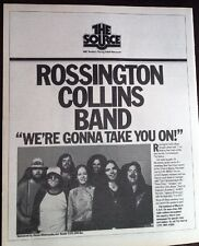 ROSSINGTON COLLINS BAND 1981 (Rolling Stone) Poster size ADVERT 12x10 inches