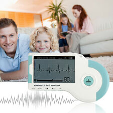 Handheld ECG EKG Machine +Software Electrocardiograph Electrodes Lead Cable Pads