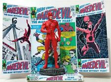 Marvel DAREDEVIL Comic 10cm Action Figure STATUE on Custom Display Diorama