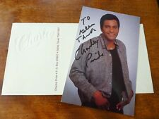 AUTOGRAPH of CHARLEY PRIDE - American Country SINGER