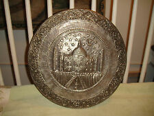 Superb Middle Eastern Metal Mosque Hammered Art-Islam Muslim Copper Mosque-LQQK