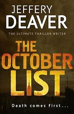 Deaver, Jeffery The October List Very Good Book