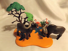 Playmobil Cape Water Buffalo w River Landscape, Flamingo, Safari Zoo, Ark Animal