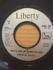 "CRYSTAL GAYLE 7"" - DON'T IT MAKE YOUR BROWN EYES BLUE / TALKING IN YOUR SLEEP"