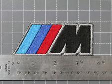 BMW M LOGO BLACK BADGE (M-POWER) CAR MOTORCYCLE BIKER RACING PATCH - USA MADE